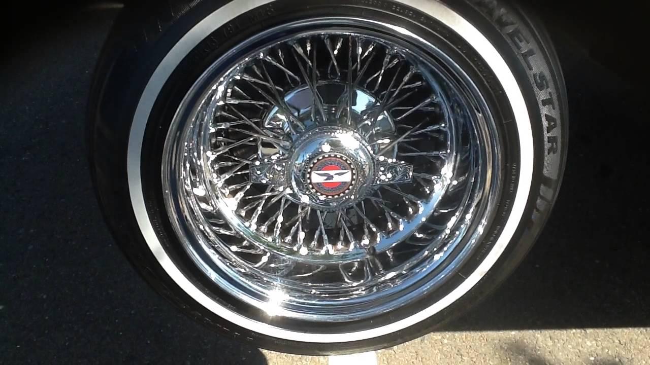 Oldsmobile Cutlass Sitting on 3 Wheels. Zenith Wire Wheels. - YouTube
