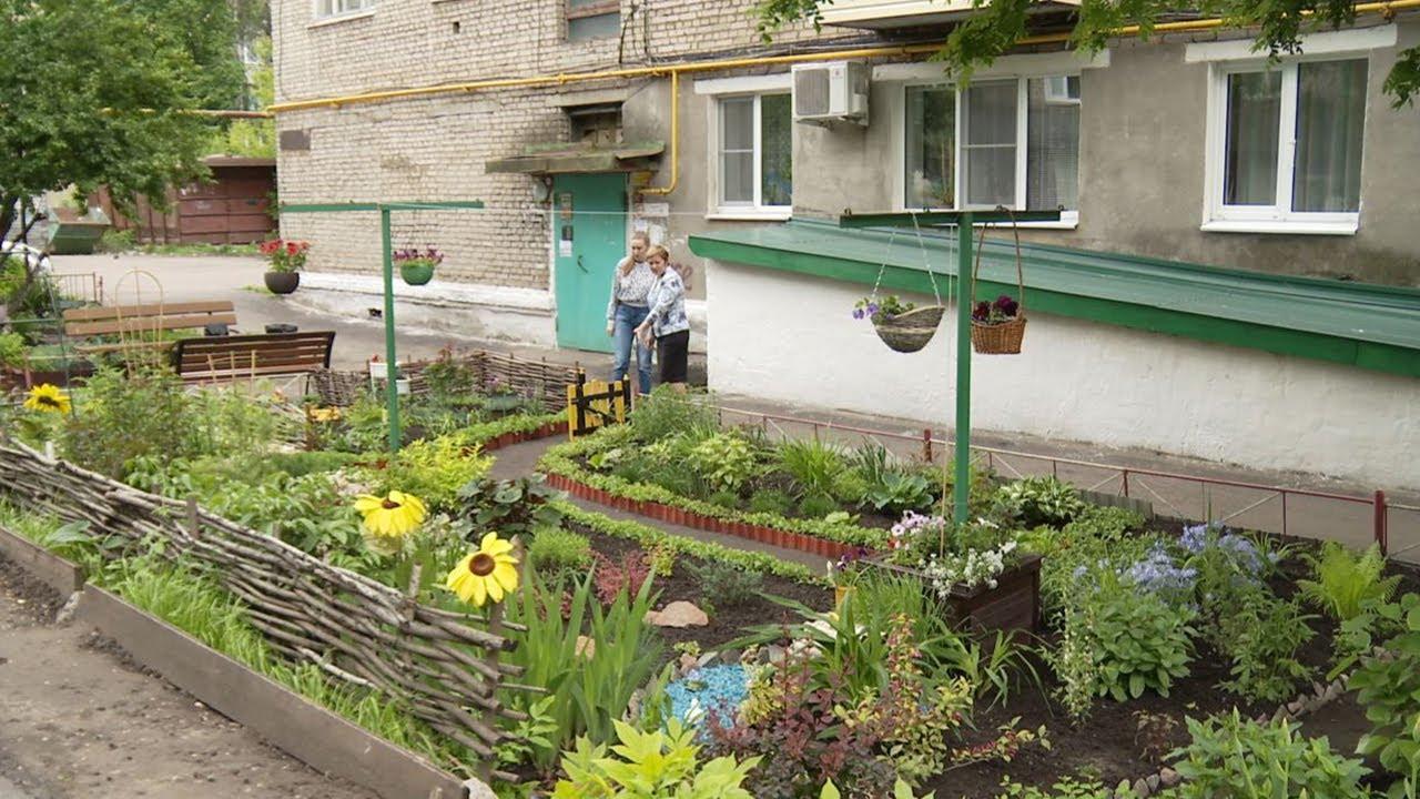 Жительница Мичуринска обустроила палисадник под окнами многоэтажки