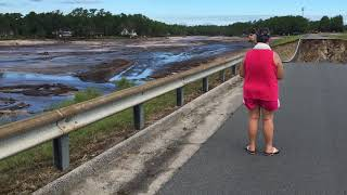 Boiling Spring lakes Dam after Hurricane Florence.