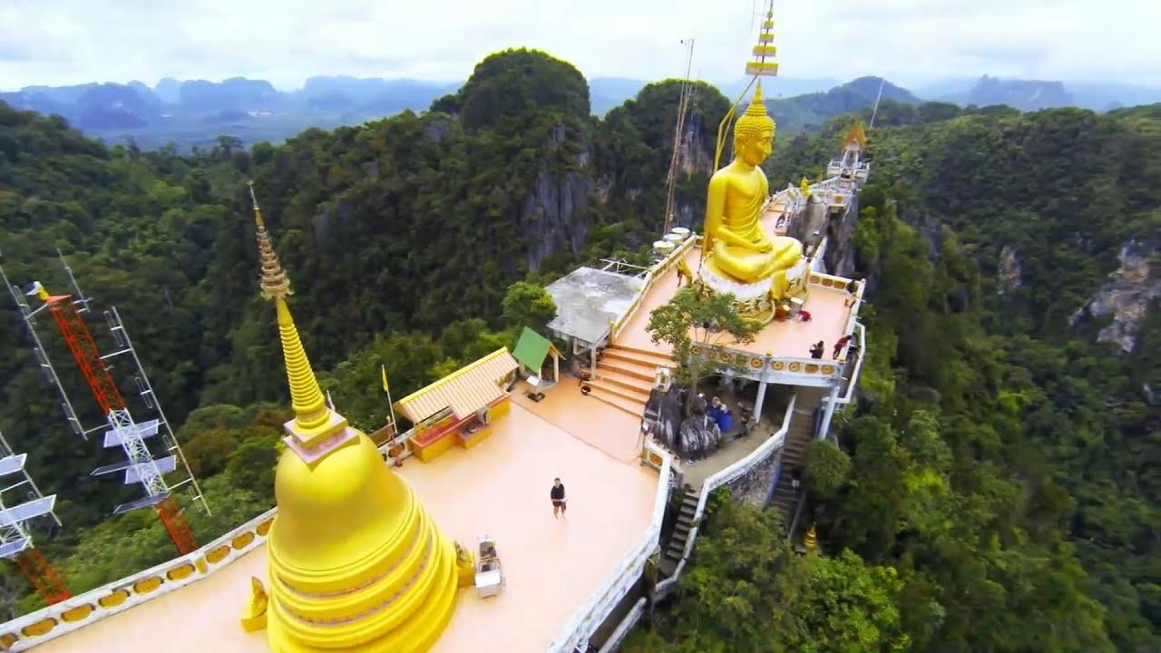 Wat Tham Suea (Tiger Cave Temple), Krabi Thailand - YouTube
