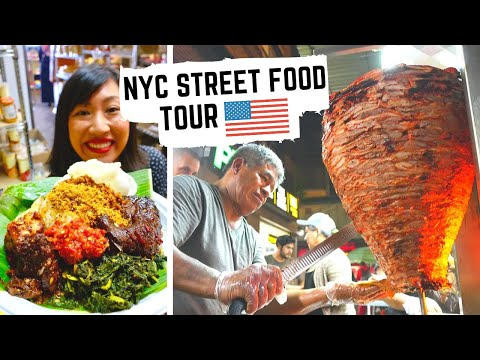 NEW YORK CITY STREET FOOD TOUR Like You've NEVER SEEN | HIDDEN Street Food GEMS In NYC, USA