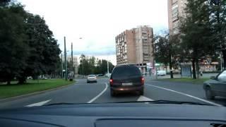 Урок с начинающим водителем.Движение по городу Часть1