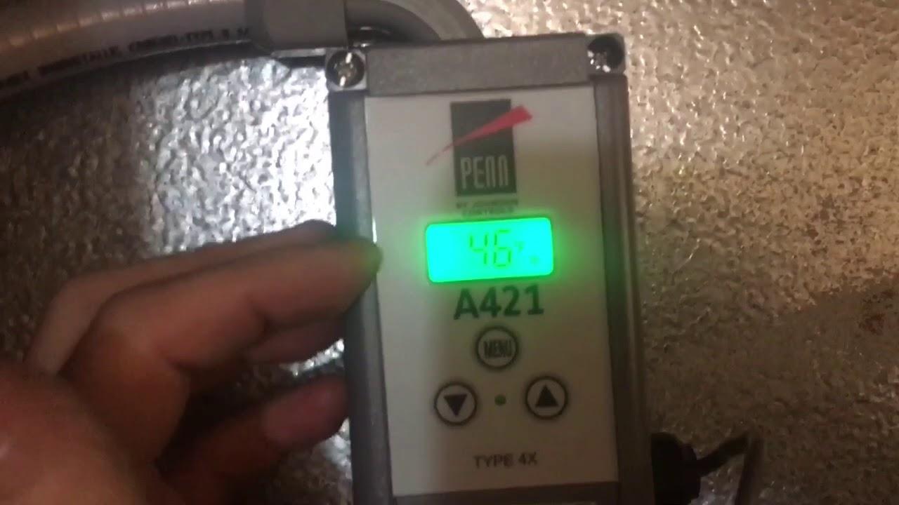 A421 Digital Temperature Control installation on