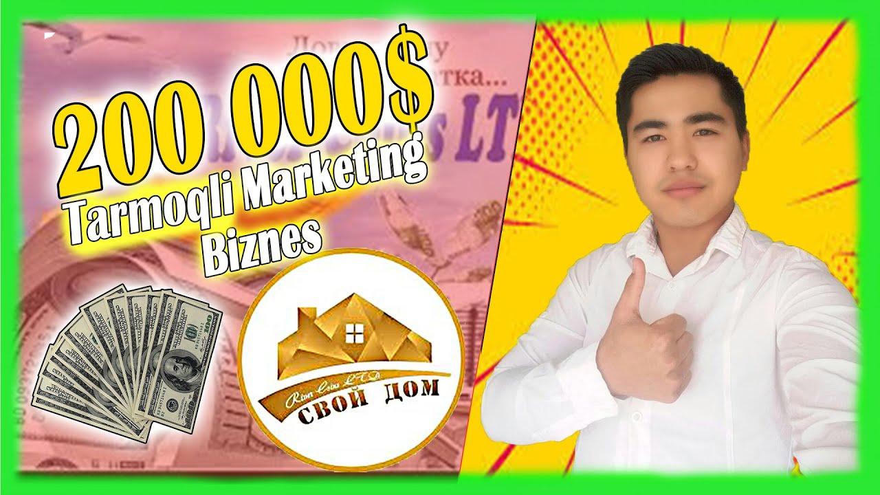 YANGİ BİZNES 5$ BİLAN 200 000$ PUL İSHLASH / Svoy Dom MyTub.uz