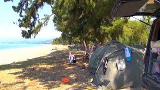 ч2 В Абхазию на машине с палатками - Поездка на море 2015(Советы и отзывы - очень полезно Место галрипш 42°55'19.8
