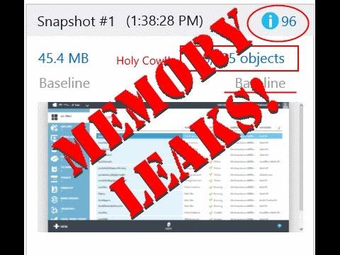 Chasing JavaScript Memory Leaks Using The Internet Explorer Memory Profiler