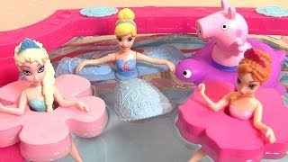 Princesa Cinderella Disney Petal Float Dolls Rapunzel Belle Ariel Mermaid Bonecas da Disney