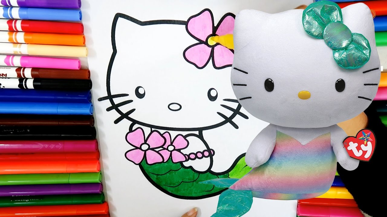hello kitty mermaid coloring page colouring pictures for kids and preschoolers