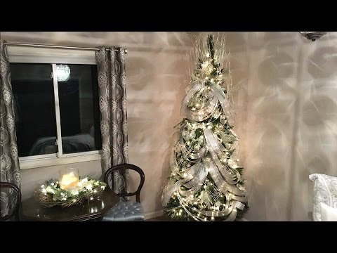 Wave Ribbon Christmas Tree Decorating Tutorial How To