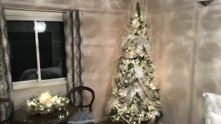 Wave Ribbon Christmas Tree Decorating Tutorial - How To Ribbon Technique - Holiday decorating