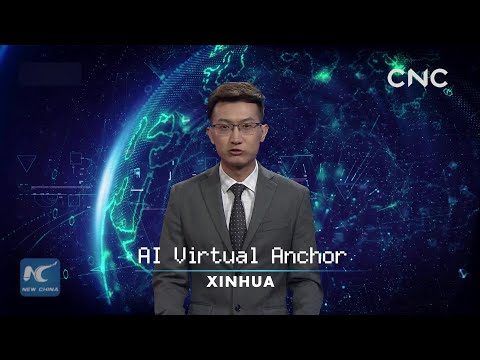 Xinhua AI anchor presents CIIE news reports
