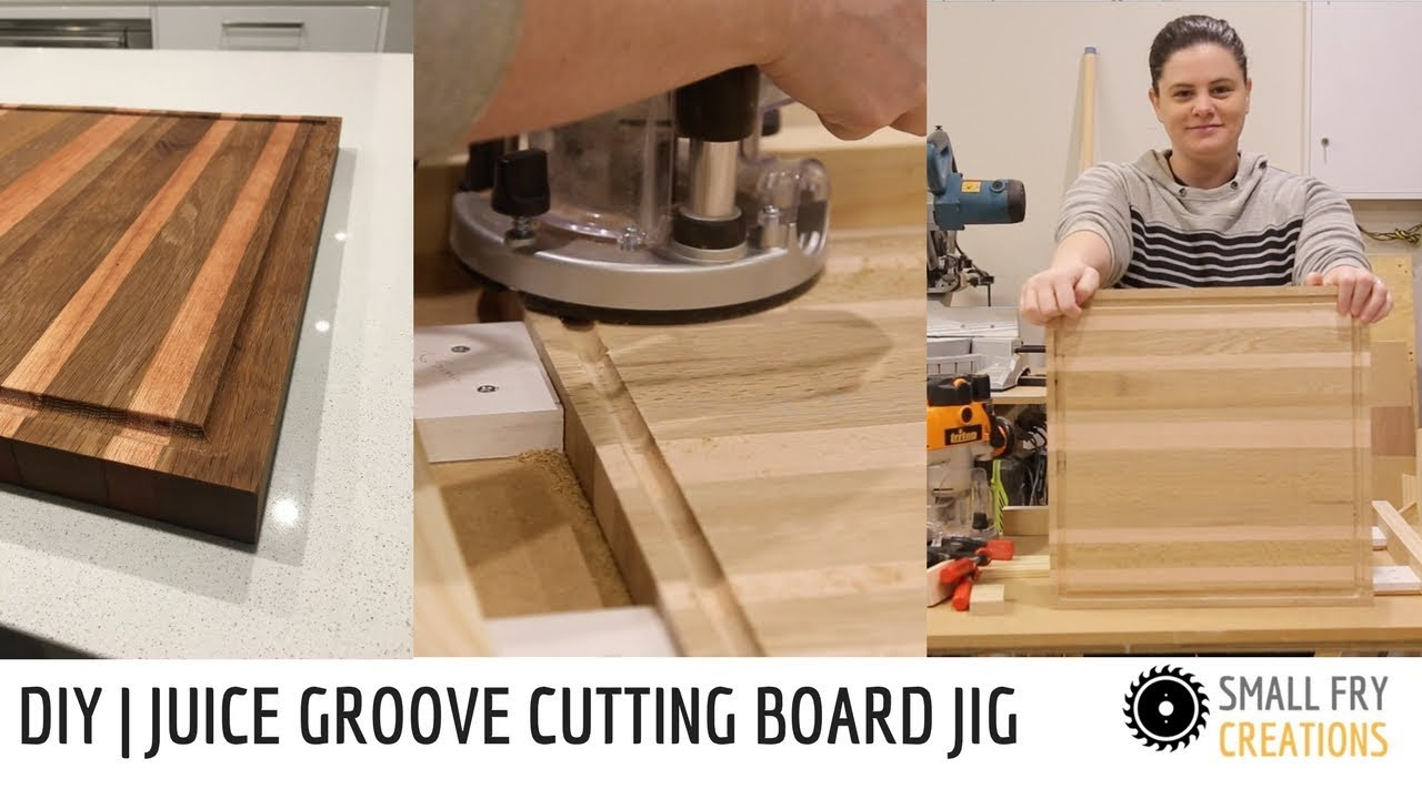 diy cutting board juice groove with jig youtube. Black Bedroom Furniture Sets. Home Design Ideas
