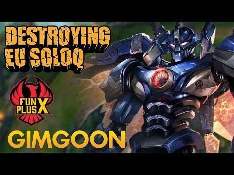 Destroying EU SoloQ: FunPlus Phoenix GimGoon - Aatrox Top Lane - KDA 15/3/8