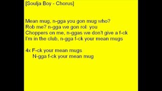 Soulja Boy ft. 50Cent - Mean Mug (Lyrics)