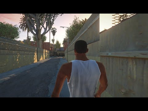 GTA San Andreas - First Mission (GTA V Graphics)