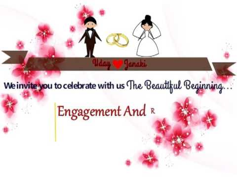 2d engagement and ring ceremony invitation video youtube stopboris Gallery