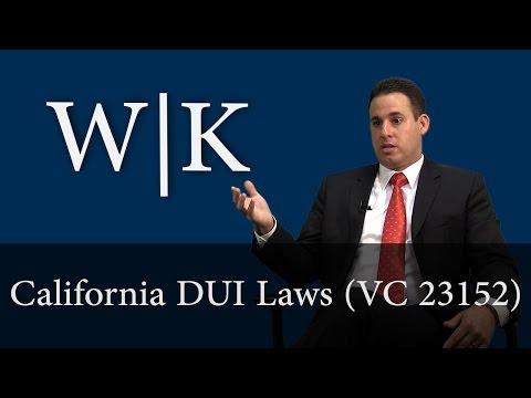 California DUI Laws (VC 23152)