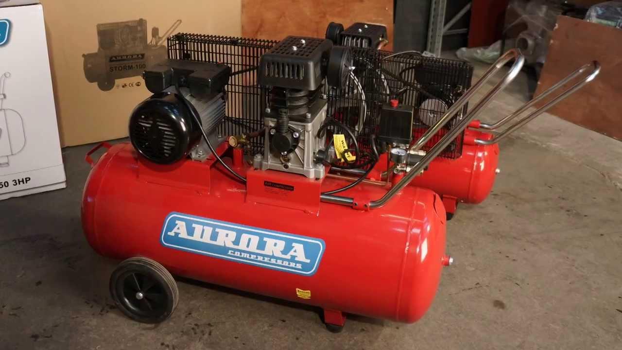 Компрессор aurora gale-50 оснащен воздушным фильтром и кожухом на двигателе для шумопоглащения. Купить поршневой компрессор с прямой.
