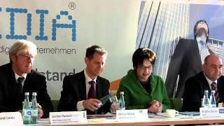 Pressekonferenz IT&Media 01.02.2012 Ausschnitt: Brigitte Zypries (Schirmherrin der IT&Media)