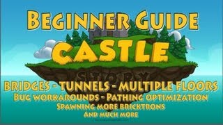 Castle Story Beginner Guide #2 - Bridge, Multiple Floors, Tunnel, Pathfinding And Much More