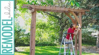 Welcome back Remodelaholics! Watch this video to see how you can make your own garden arbor for your outdoor living space.