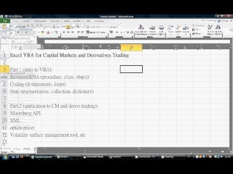 Excel VBA for Derivatives Trading (Cantonese) Tutorial 1: Intro to VBA