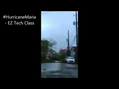 Hurricane Maria damages in Frederiksted, St Croix, U.S. Virgin Islands
