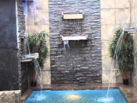 Cascada hecha de piedra picapedreros arte en piedra youtube for Piedras para cascadas