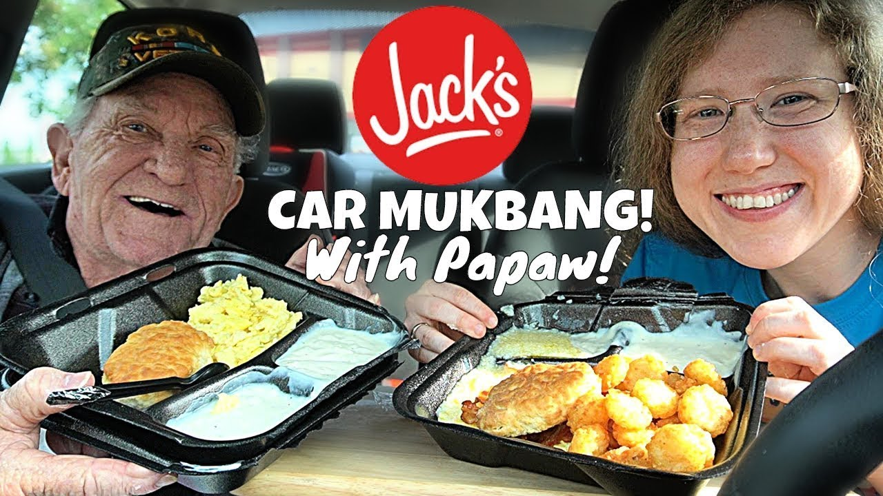 JACKS BREAKFAST MUKBANG (With My Papaw!) 먹방 | SongByrd's Eating Show