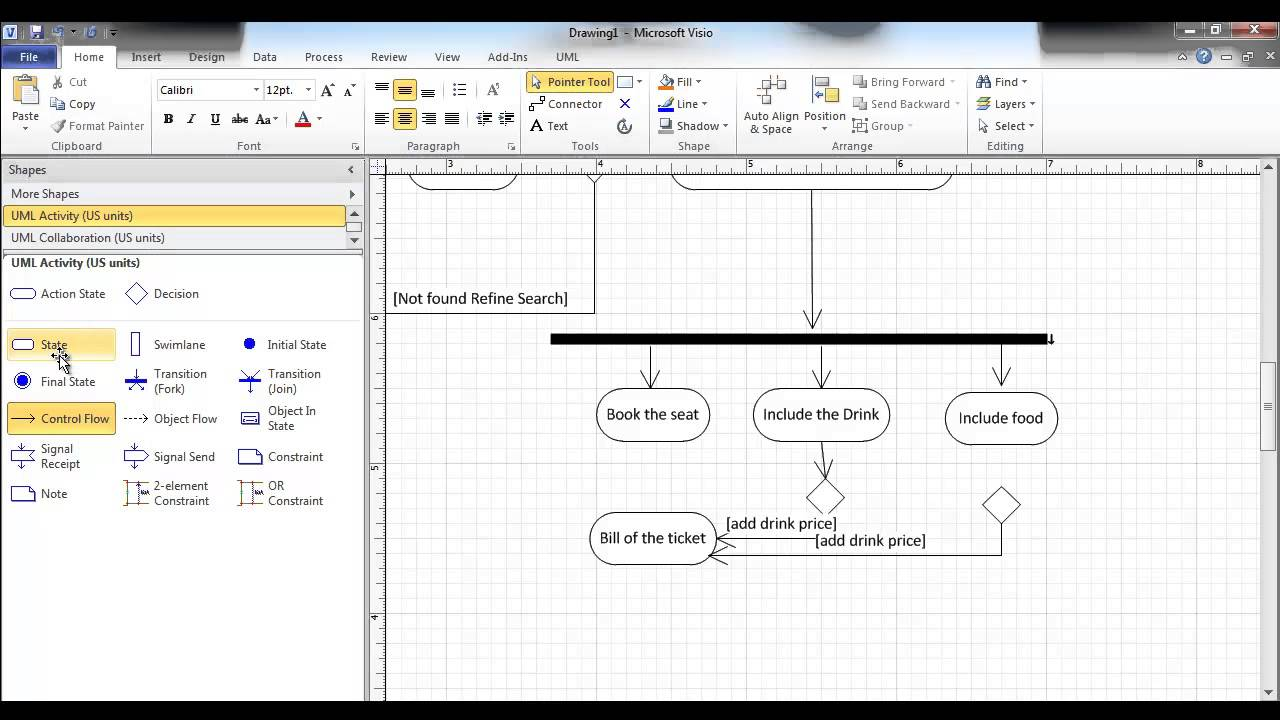Activity Diagram using Visio online Airline booking  YouTube