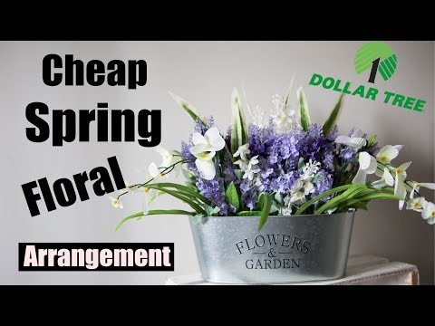 Cheap Dollar Tree Floral Arrangement