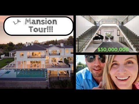 Los Angeles  Mansion Tour $ 30 Million Dollar House Tour - Drone