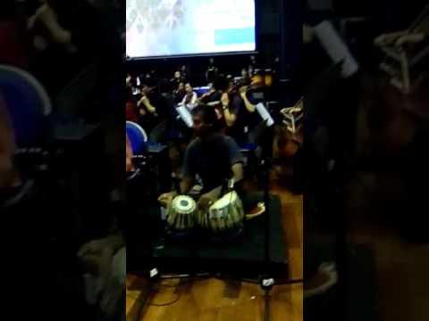 Hamid Khan Sitarist at UNIMAS, Sarawak with symphony orchestra on 17th. May 2017.