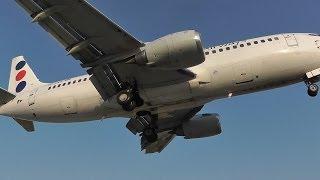 JAT 737-300 - Landing & Takeoff - Skiathos, The Second St Maarten - JAT Now Gone!