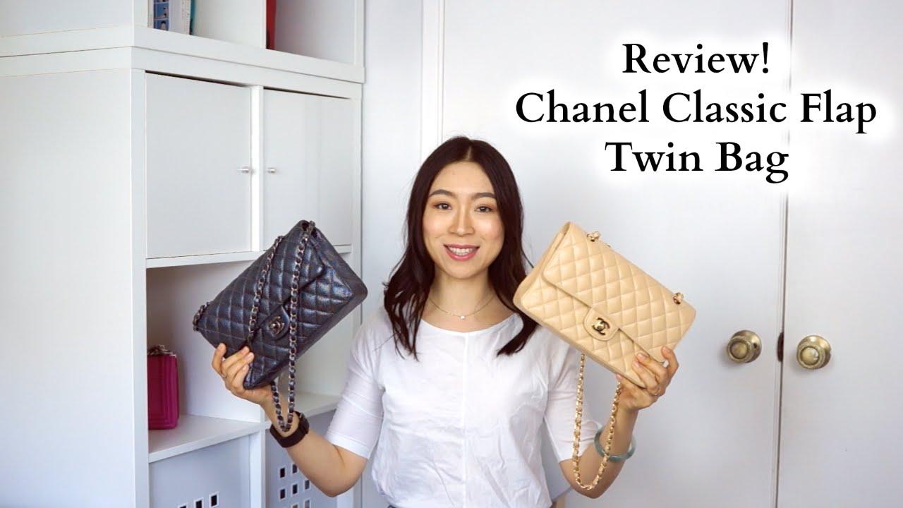 0e659435ef18 Chanel Classic Flap Twin Bag Review - YouTube