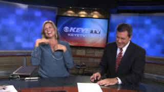 TV News Anchor gets the giggles BIG TIME!