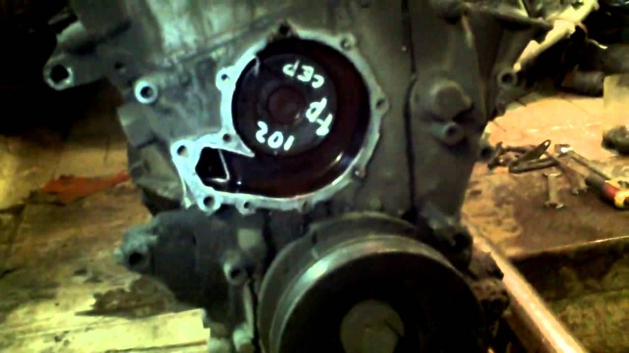 Ремонт двигателя М 102 на Мерседес 190,часть №2 разборка.