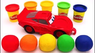 Learn Colors with Play Doh Disney Pixar Lightning McQueen for Kids