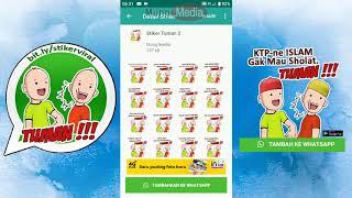 Cara Pasang Stiker WhatsApp Viral Tuman