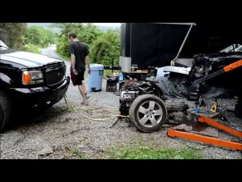 AUDI A6 Engine, Quattro Transmission, Subframe Removal Time Lapse from a Crashed A6 QUATTRO C5