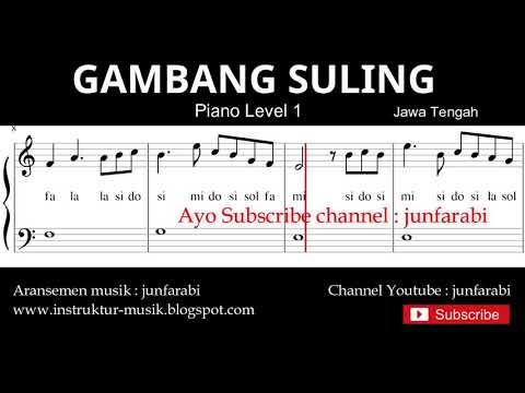 not balok gambang suling - piano level 1 - lagu daerah jawa tengah - doremifasol / solmisasi
