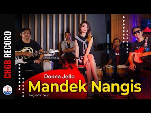 donna jello mandek nangis