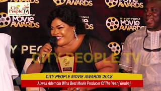 ALLWELL ADEMOLA WINS BEST MOVIE PRODUCER OF THE YEAR {Yoruba}}}@ CITY PEOPLE MOVIE AWARDS 2018