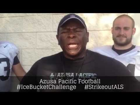 Azusa Pacific Football ALS Ice Bucket Challenge