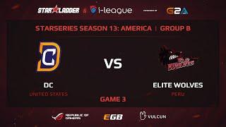 Digital Chaos vs Elite Wolves, StarSeries 13 America, Game 3