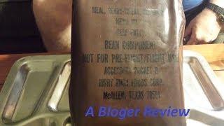 Vintage US MRE Review Menu No. 3 Beef Patty