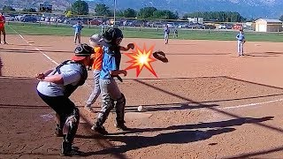 ⚾️KID HITS CATCHERS MITT OFF WITH BASEBALL BAT!💥 Little League Baseball   Marlins vs Mariners