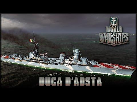 World of Warships - Duca d'Aosta - Premium [ deutsch 🐄 gameplay ]