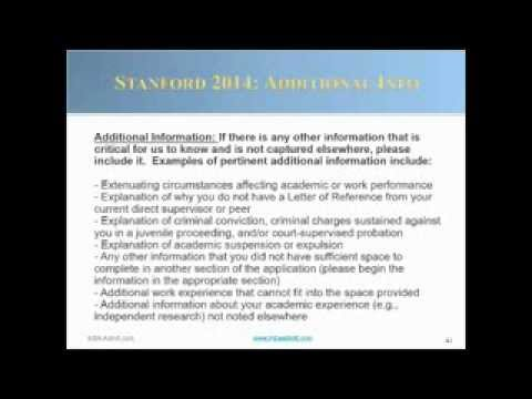stanford mba essay questions 2012