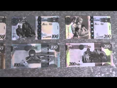 All Banknotes Of Botswana Pula - 10 Pula To 200 Pula - 2009 To 2014 Issue In HD